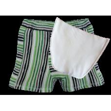 Boxerky klokánky zelenočerný proužek