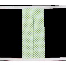 Textilní rouška zelené puntíky