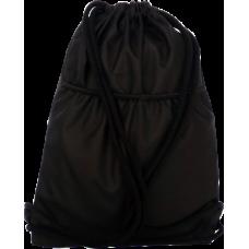 Univerzální vak na záda černý s kapsou na předním dílu